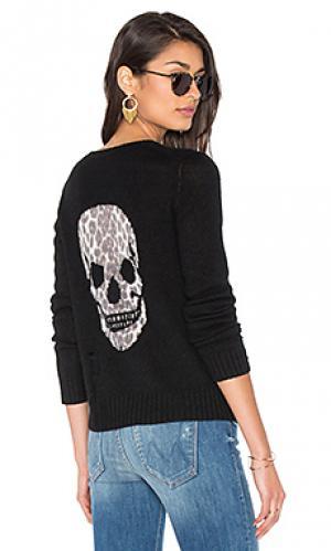 Кашемировый свитер с рисунком череп raj 360 Sweater. Цвет: черный