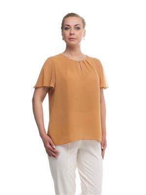 Блуза OLSI. Цвет: горчичный