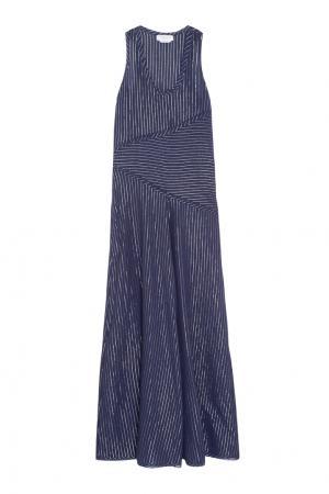 Хлопковое платье Gabriela Hearst. Цвет: темно-синий