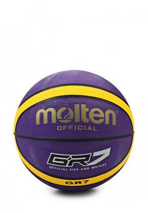 Мяч баскетбольный Molten. Цвет: фиолетовый