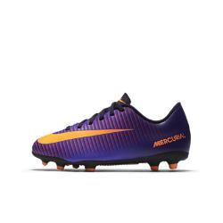 Футбольные бутсы для игры на твердом грунте дошкольников/школьников  Jr. Mercurial Vortex III Nike. Цвет: пурпурный