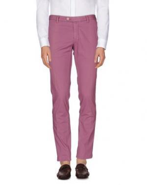 Повседневные брюки LUIGI BIANCHI MANTOVA. Цвет: розовато-лиловый
