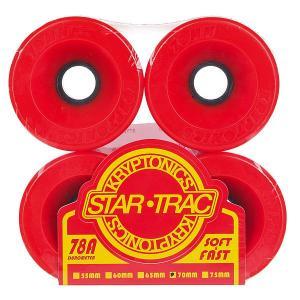 Колеса для скейтборда лонгборда  Star Trac Red 78A 70 mm Kryptonics. Цвет: красный