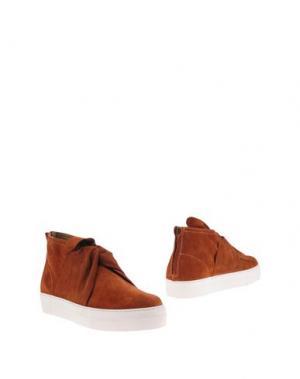 Полусапоги и высокие ботинки PORTS 1961. Цвет: ржаво-коричневый
