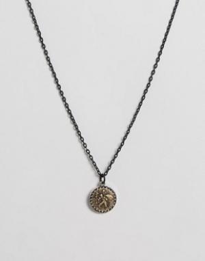 Icon Brand Ожерелье с подвеской. Цвет: черный