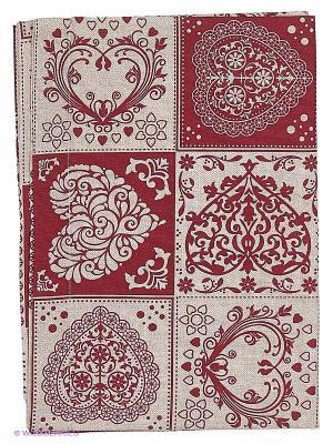 Скатерть Дорожка  Amore T&I. Цвет: бордовый, белый