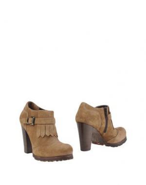 Ботинки EMANUELA PASSERI. Цвет: песочный