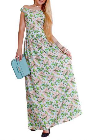 Платье Patricia B.. Цвет: голубой, зеленый, бежевый