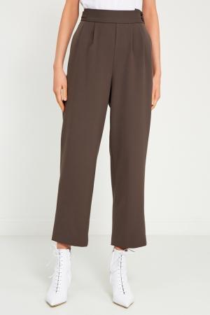 Серые брюки со складками Cyrille Gassiline. Цвет: серый