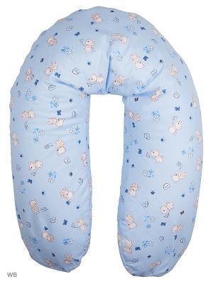 Подушка для беременных и кормящих EUROMAMA. Цвет: синий, голубой, белый
