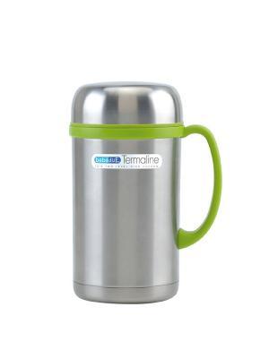 Термос чашка 500 мл Bebe Due. Цвет: светло-зеленый, серебристый