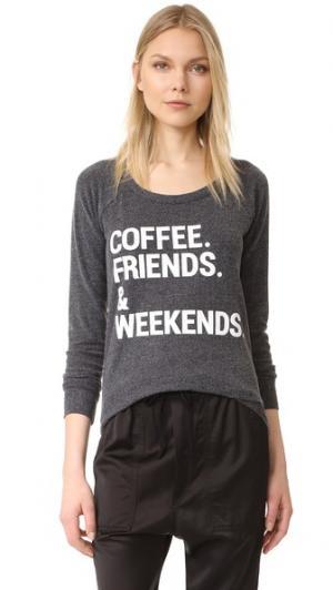 Футболка Weekend Coffee Chaser. Цвет: голубой