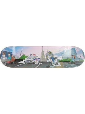 Профессиональный скейтборд Кулиев, размер 8x31,5, конкейв Low Юнион скейтборды. Цвет: серый, голубой