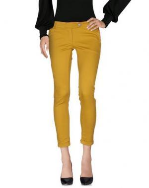 Повседневные брюки PRIVE' ITALIA. Цвет: охра