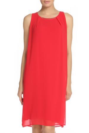 Платье шифоновое свободного силуэта VALTUSI. Цвет: красный