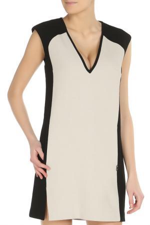 Платье C.N.C.. Цвет: светло-бежевый, черный