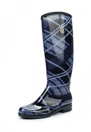 Резиновые сапоги Tommy Hilfiger. Цвет: синий