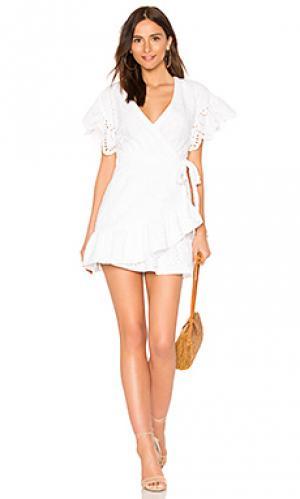 Платье с запахом hold on Suboo. Цвет: белый