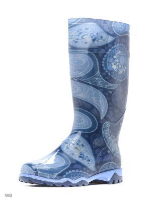 Резиновые сапоги Дюна. Цвет: темно-синий, серый, темно-серый