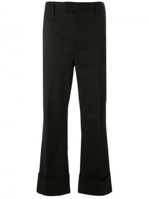 Укороченные классические расклешенные брюки Dsquared2. Цвет: чёрный