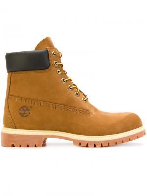 Ботинки на шнуровке Timberland. Цвет: жёлтый и оранжевый