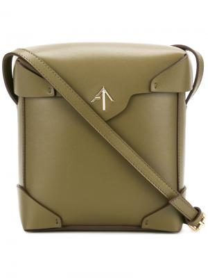 Квадратная сумка на плечо Manu Atelier. Цвет: зелёный