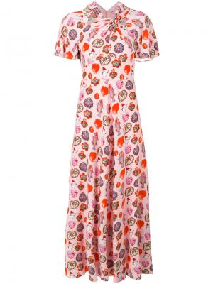 Платье Elixir Temperley London. Цвет: розовый и фиолетовый
