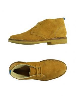 Полусапоги и высокие ботинки TREMP. Цвет: охра