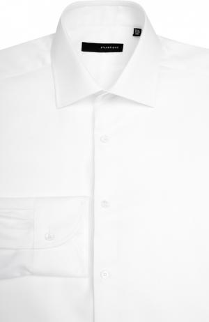 Сорочка с воротником кент свободного фасона Stanbridge. Цвет: белый