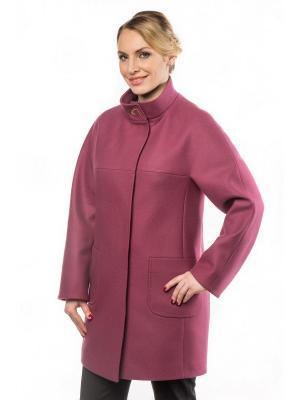 Пальто GallaLady. Цвет: лиловый