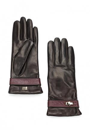 Перчатки Cavalli Class. Цвет: коричневый