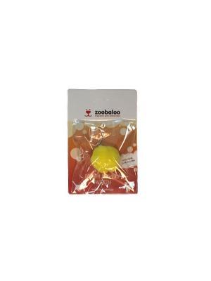 Игрушка для кошки Плюшевый мяч с бубенчиком (с кошачьей мятой) Zoobaloo. Цвет: желтый