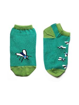 Носки укороченные Big Bang Socks. Цвет: зеленый