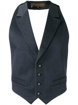 Джинсовый жилет Louis Vuitton Vintage. Цвет: синий