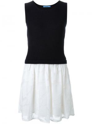 Платье в стиле колор-блок Guild Prime. Цвет: синий