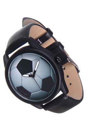 Часы Футбольный мяч MITYA VESELKOV. Цвет: черный