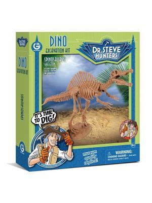 Набор для проведения раскопок - Спинозавр серия Dr.Steve Hunters Geoworld. Цвет: голубой, коричневый, салатовый