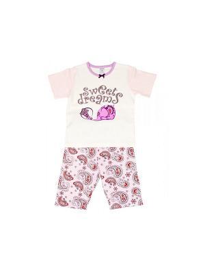 Пижама Модамини. Цвет: розовый, молочный