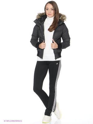 Пуховик W PNL MCRL JKT Adidas. Цвет: темно-серый