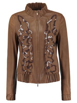 Куртка ESCADA. Цвет: коричневый