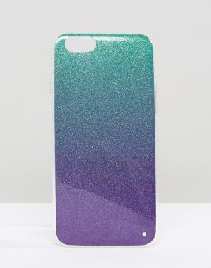 SIGNATURE Чехол с блестками для iPhone 6. Цвет: мульти