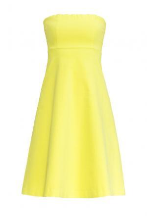 Велюровое платье 160591 Cyrille Gassiline. Цвет: желтый