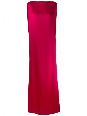 Платье Signature Long Column Chalayan. Цвет: розовый и фиолетовый