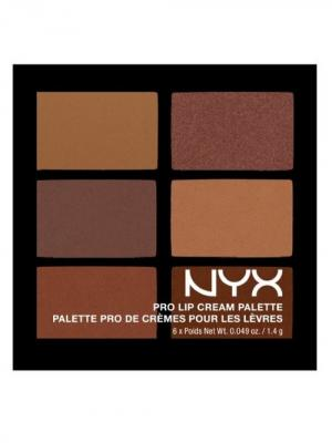 Палетка помады для губ. PRO LIP CREAM PALETTE - NUDES 02 NYX PROFESSIONAL MAKEUP. Цвет: бежевый