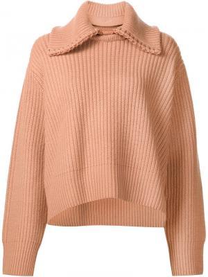 Джемпер крупной вязки Edun. Цвет: розовый и фиолетовый