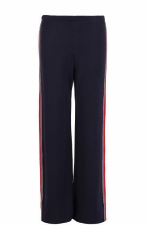 Расклешенные брюки с контрастными лампасами Pietro Brunelli. Цвет: синий