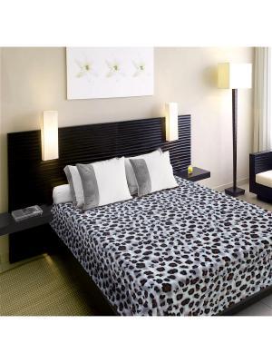 Плед Absolute 2,0 сп. Snow Leopard TexRepublic. Цвет: белый, черный, серый