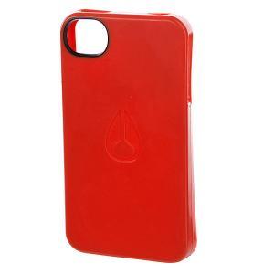 Чехол для Iphone  Jacket 4 Orange Nixon. Цвет: оранжевый