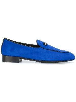 Мокасины Ribasso Giuseppe Zanotti Design. Цвет: синий