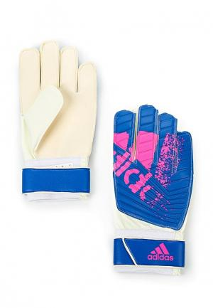 Перчатки вратарские adidas. Цвет: синий